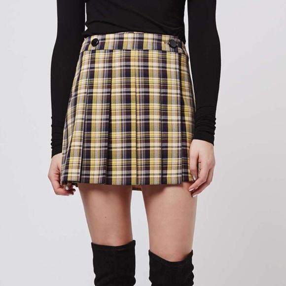 f5975e512 Topshop Yellow Plaid Skirt. M_5a9ee3a56bf5a644c2e690b6